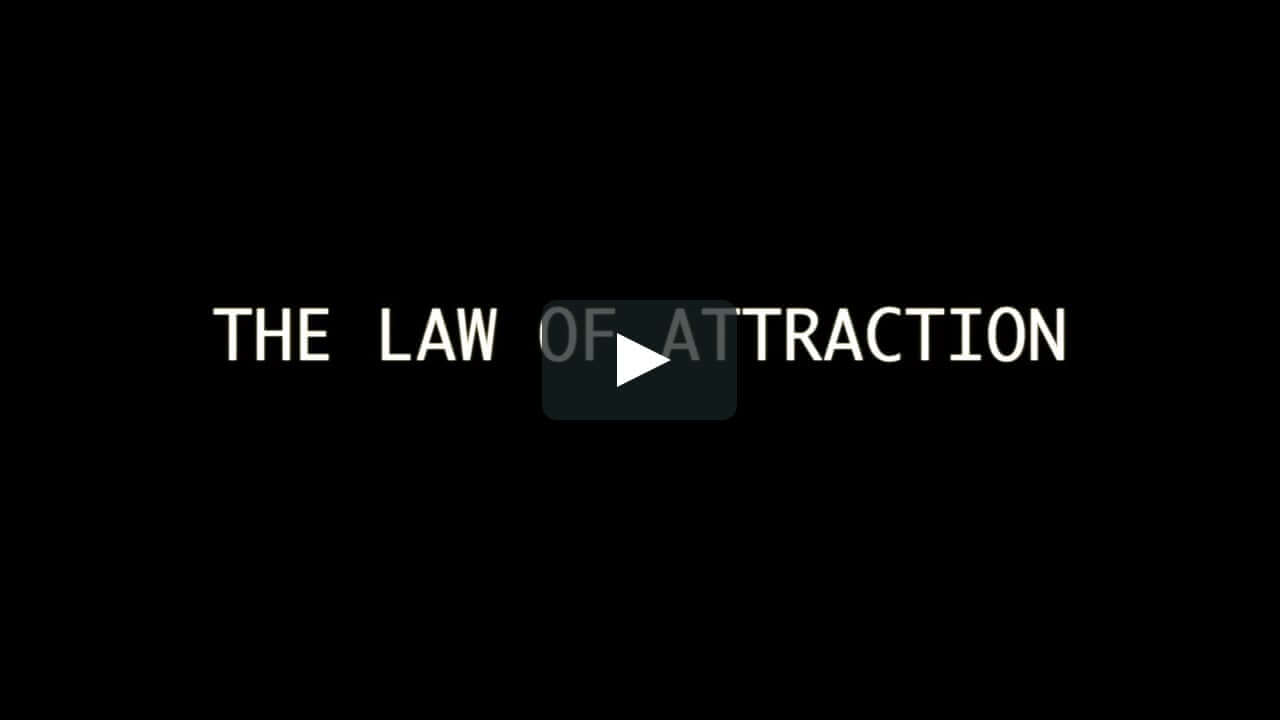 law of attraction Gesetz der Anziehung